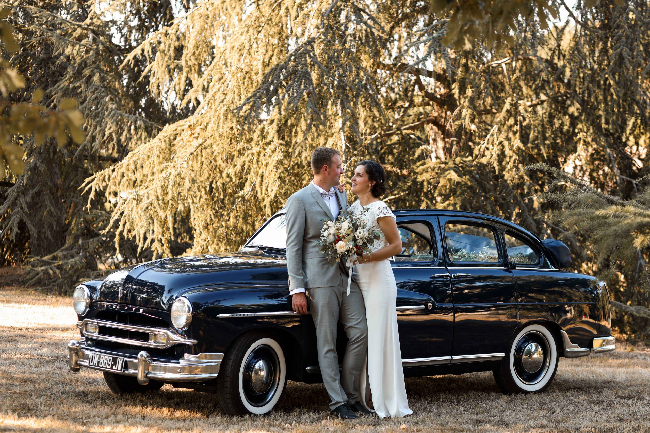 photographe de mariage voiture ancienne